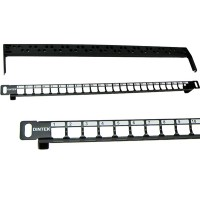 0.5U 24 Port UTP Snap In Patch Panel